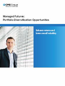 CME Managed Futures 2008 - Portfolio Diversification Opportunities